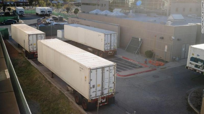 Texas requests five mortuary trailers during Covid-19 surge