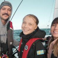 Greta Thunberg sails the North Atlantic aboard La Vagabonde