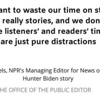 Why haven't you seen any stories from NPR about the NY Post's Hunter Biden story?