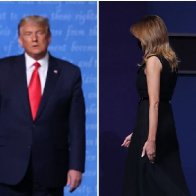 Melania Was Caught Literally Ripping Her Hand Away From Trump After the Debate