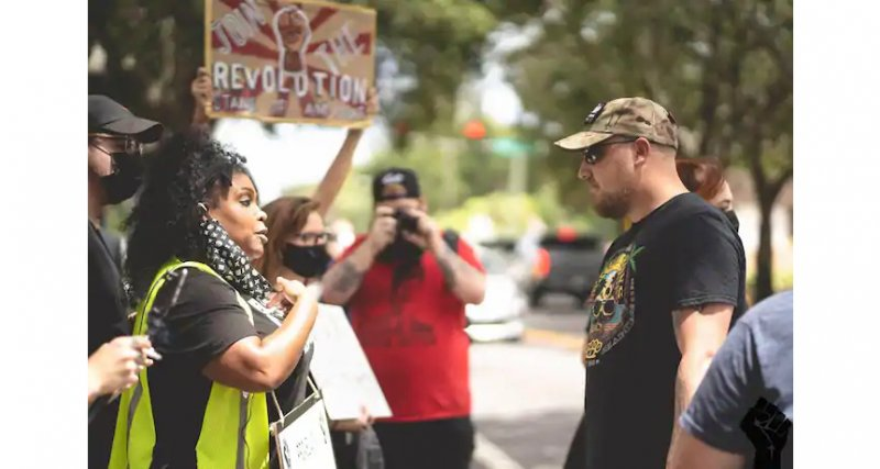 Proud Boys and Black Lives Matter activists clashed in a Florida suburb. Only one side was charged.
