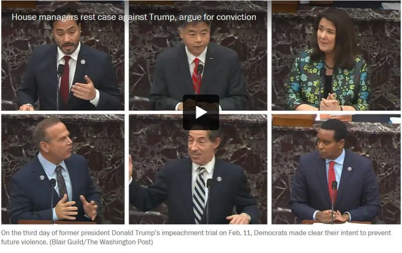 Takeaways from day 3 of Trump's second impeachment trial in the Senate - The Washington Post