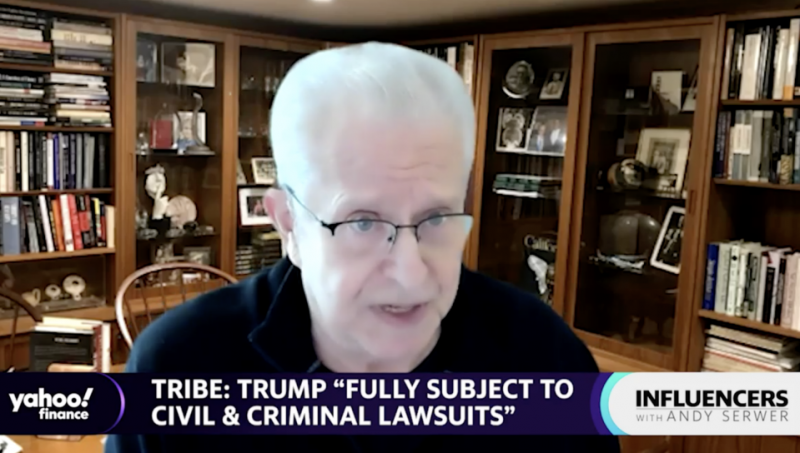 Trump will be 'busy' with lawsuits for the rest of his life: Laurence Tribe