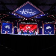CPAC organizer vehemently denies stage was designed to look like Nazi symbol.