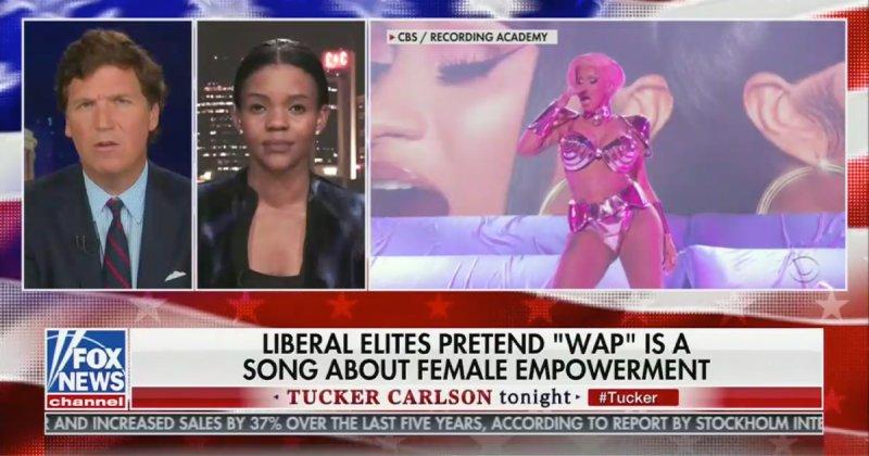 Tucker Carlson Decries 'WAP' Performance at Grammys