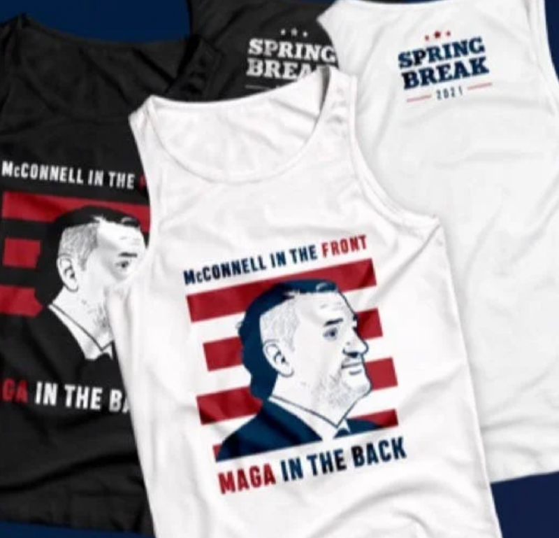 Ted Cruz has taken the worst possible piece of clothing and put his face on it
