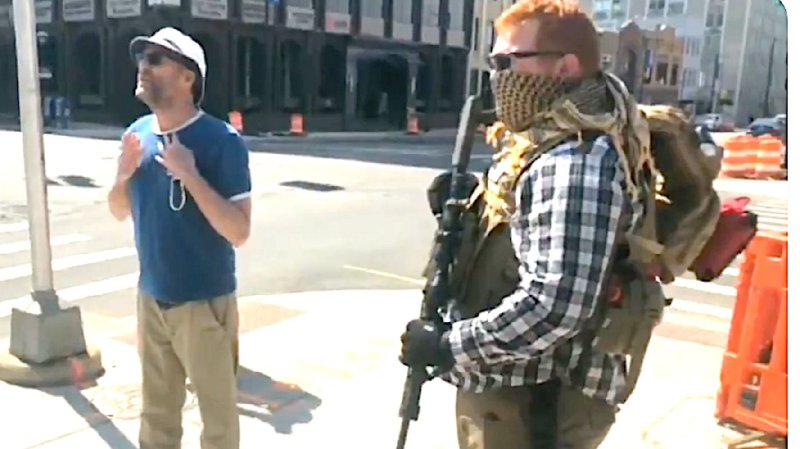 Watch Enraged Bystander Confront Armed Boogaloo Bois In Easter Protest