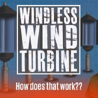 A vertical axis wind turbine without the wind! How do they do that? - YouTube