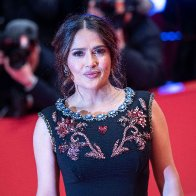 Salma Hayek gets real about why her boobs keep growing