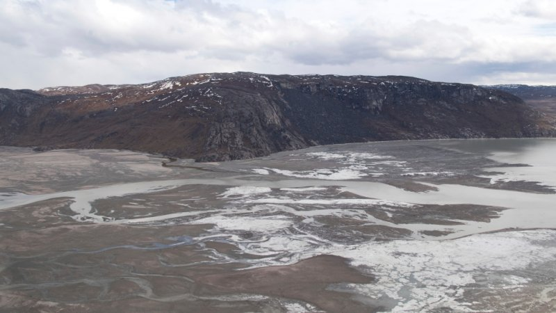 Rain fell at the normally snowy summit of Greenland for the first time on record