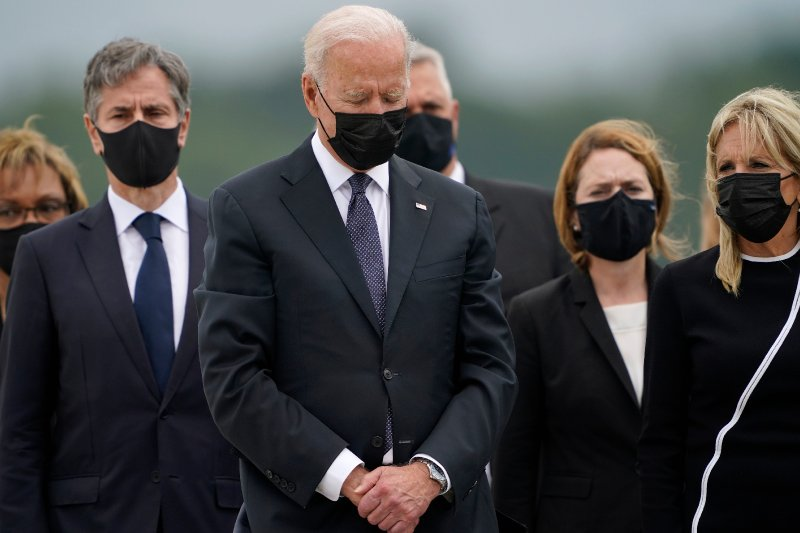 Fact check: Biden checked watch after ceremony at Dover Air Force Base