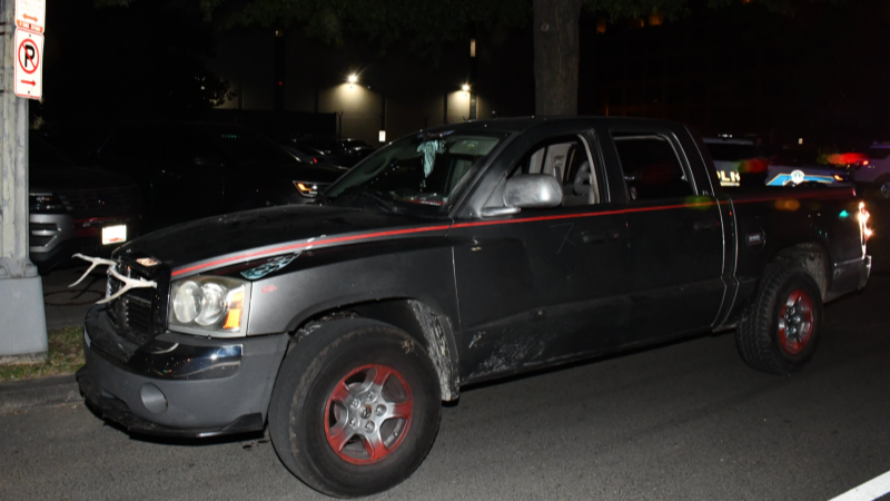 Capitol Police arrest armed man in swastika-adorned truck near Democratic Party headquarters