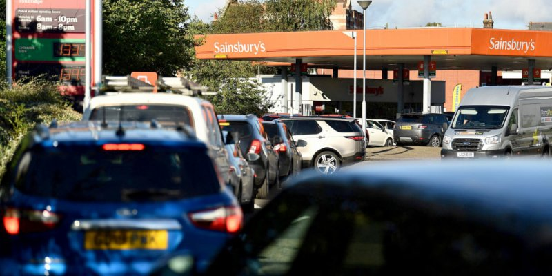 Lines at U.K. gas stations as Brexit, Covid-19 and global price hikes bite