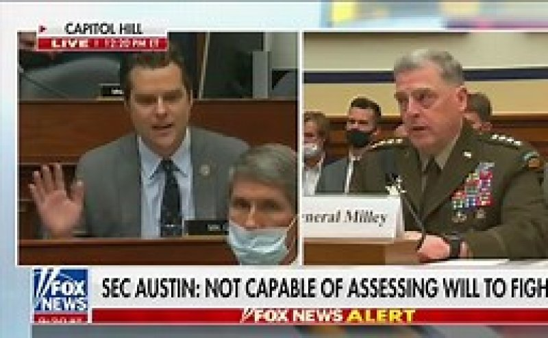 Matt Gaetz RAGES at Milley, Austin During Hearing: 'If We Didn't Have a President That Was So Addled, You All Would Be Fired!'