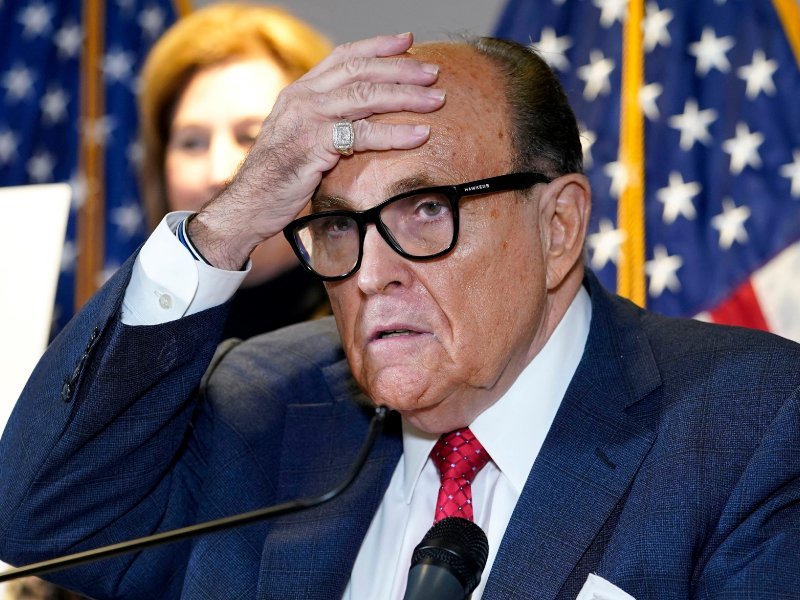 Rudy Giuliani admits under oath that he got some of his 'evidence' of alleged election fraud from Facebook