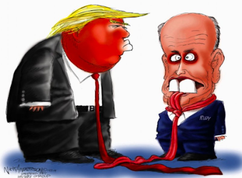 """The  Sierra Madre Tattler!: Rudy Giuliani Throws Donald Trump Under The Bus On The Big Lie - Claims He Was """"Only Following Orders"""""""
