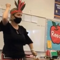 """Teacher Who Did a Poor Job of """"Playing Indian"""" in Video that Went Viral is Placed on Leave"""