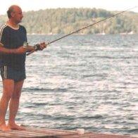 fishing off my dock