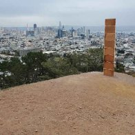 Mysterious gingerbread monolith appears in San Francisco