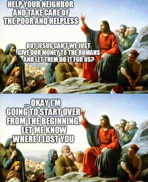 Jesus telling people to go out and feed the poor.jpg