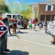 BLM Meets Confederate Flag