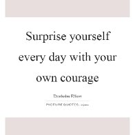 When you surprise yourself...