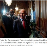 In His Haste to Roll Back Rules, Scott Pruitt, E.P.A. Chief, Risks His Agenda