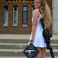 Come And Take It: Woman Graduates College With A Rifle Slung Around Her Shoulder