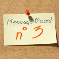 Open Message Board N° 3