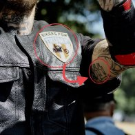 "Ooops !  ""Biker For Trump"" Displays Nazi Tattoo On His Arm"