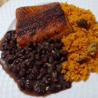 Food Porn: Steelhead with Cuban Black Beans