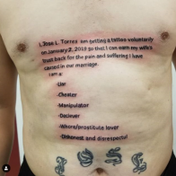 Husband Literally Brands Himself as a Cheater for Life With Massive 'Apology' Tattoo