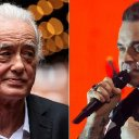 Robbie Williams 'torments' Led Zeppelin's Jimmy Page in home row