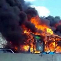 Bus full of children in Italy set alight by angry driver 'in retaliation' for migrant drownings in Mediterranean