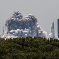 SpaceX conducts Static Fire on Falcon Heavy ahead of Arabsat 6A launch