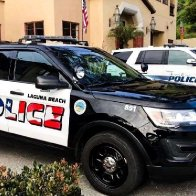 Putting American flags on police cars sparks backlash in Laguna Beach