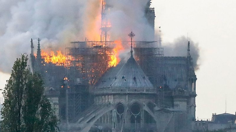 Massive fire breaks out in Notre Dame cathedral in Paris
