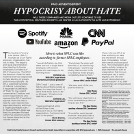 Pro-Family Groups Warn Big Tech, Media Not to Prop Up the SPLC 'Hate-for-Cash Machine'