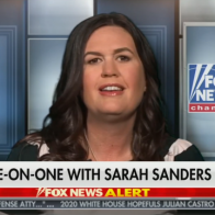 """Sarah Sanders calls revelation that she lied to press """"a slip of the tongue"""""""