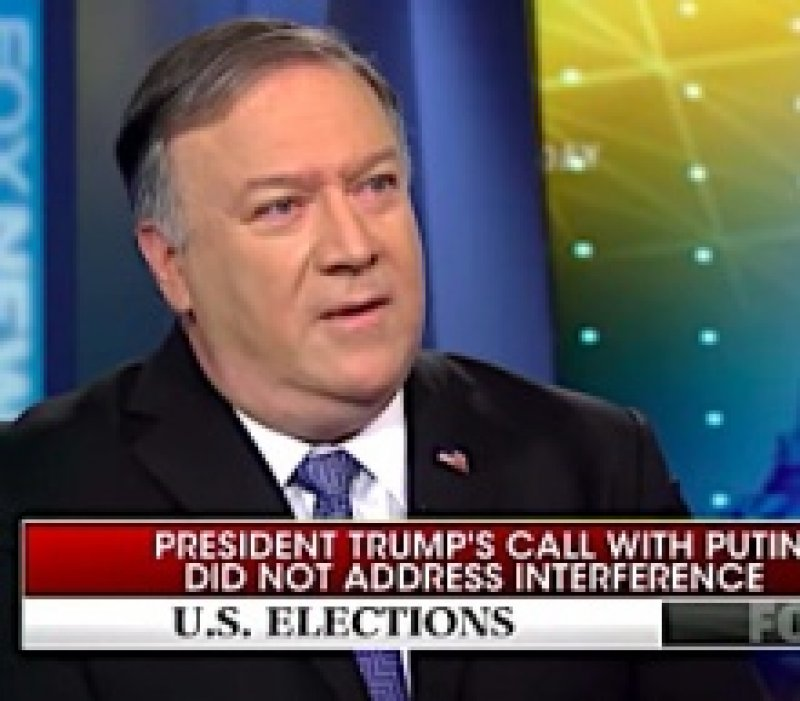 Pompeo Suggests Trump Didn't Have Time To Talk To Putin About Election Interference