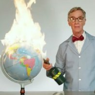Bill Nye Brings Out the F-Bombs and a Blowtorch to Talk Climate Change