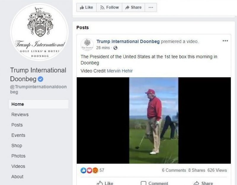 Trump's $3.6 Million Ireland Detour Brings Taxpayer-Funded Golf Tab To $105.8 million
