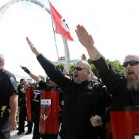 LGBT+ pride marches in US interrupted by neo-Nazis and stampede