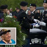 Louis Levi Oakes, last Mohawk Code Talker receives a hero's tribute when laid to rest in Akwesasne