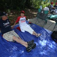 Trump supporters line up 42 hours early for Orlando campaign rally
