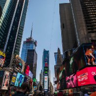 Wallendas Walk tightrope Above Times Square