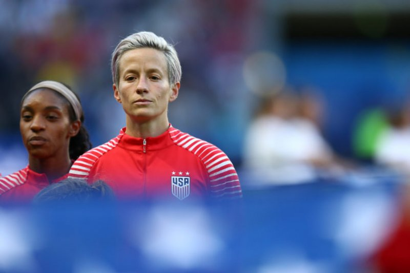 Trump says it's not appropriate for Megan Rapinoe to protest during national anthem