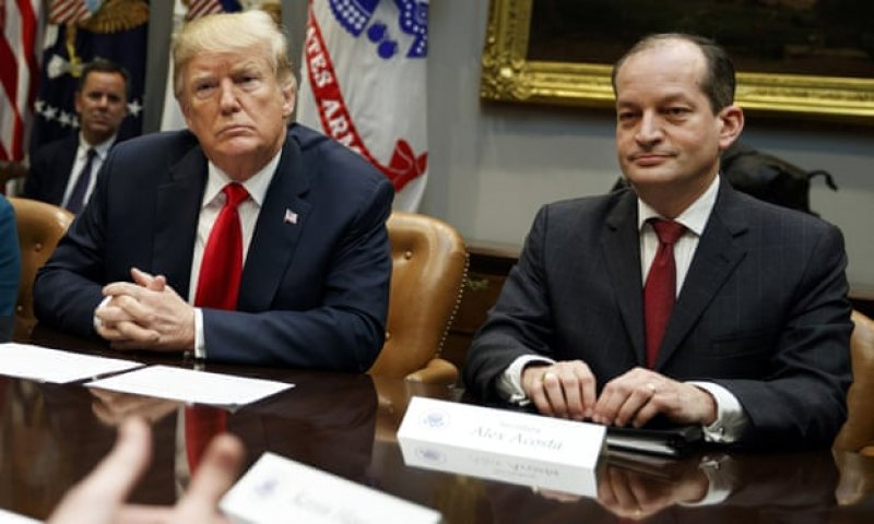 Trump labor secretary who cut Epstein deal plans to slash funds for sex trafficking victims