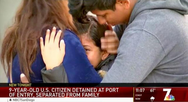 Border Patrol Detained a 9-Year-Old American Girl on Her Way to School for 32 Hours