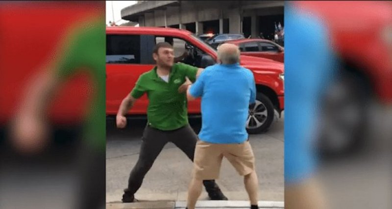 Trump Thug Attacks Man Old Enough To Be His Father